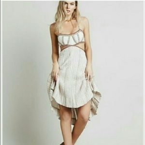 Free People - off-white dress with side cutouts